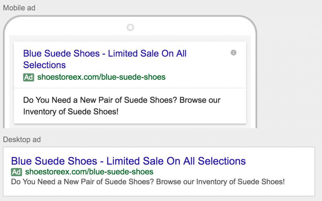 ad text and copy from adwords